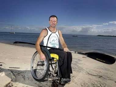 David Parry is an international kayaker and all round adrenalin junkie. Photo Vicki Wood / Caboolture News