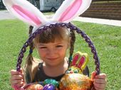 COUNTING THE DAYS: Bridget Curtis can't wait to count her Easter Eggs on Sunday morning. Photo Rebecca Hafner / Central Telegraph