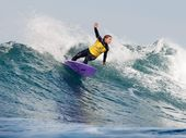 Dimity Stoyle of Sunshine Coast, Queensland, Australia (pictured), advanced into Round 3 of the Ripcurl Pro Bells Beach, defeating two times reigning ASP Womens World Champion, thedefending event champion Carissa Moore (HAW) and Zoe Clarke (AUS) in Round 1 at Rincon, Bells Beach today.