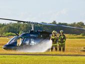 Pilot has told ATSB investigators helicopter crash was caused by loss of power after take-off.