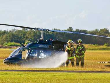 A helicopter crashed near Coffs Aero Club this morning.