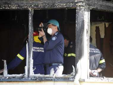 Police and QFS fire investigators at the scene of an overnight hourse fire in Gaydon Street, Newtown. A man, the resident of the home, appeared in Toowoomba Court on arson charges. Photo: Bev Lacey / The Chronicle