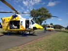 A 52-YEAR-OLD man sustained a suspected lower leg injury in a motorbike accident involving a kangaroo on the Chinchilla-Wondai Rd.