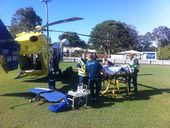 A 47-year-old cyclist was flown to Nambour General after being hit by a truck at Tewantin. Photo Contributed