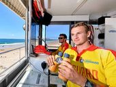 CLOSE WATCH: Lifeguard Callan Dick urges swimmers to respect the surf and use common sense over the Easter long weekend.