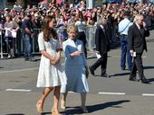 IT WAS a fresh and breezy day at Sydney's Royal Easter Show for the Duke and Duchess, even as Kate unknowingly crashed an Australian designer's website.