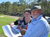 NEW DEMENTIA WING: Cooinda CEO Robyn Kross with project manager Chris Horan of Paynter Dixon.