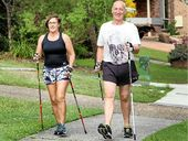 Brenda and John Carlile are fans of Nordic walking.