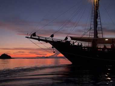 Stunning sunset: Cruising the Flores Sea, Indonesia