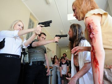 FIlmmaker Nick Aiton has been allowed to shoot scenes for his zombie short film and theatrical trailer at Maryborough Hospital.