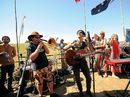 JOHN Butler and other Bluesfest artists visited the Bentley gas field protest site yesterday and gave an impromptu performance in a show of support.