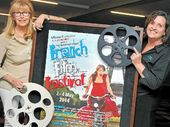 Alliance Francais Sunshine Coast vice-president Christine Maudy and Nambour Civic Centre's Cherie Matheson prepare for the French film festival at Nambour Arthouse Cinema.