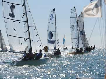 Maryborough Sailing Club at Scarness Beach hosted their 83rd annual Easter Regatta. 16ft skiffs, 13ft skiffs, lasers, 125's and sabots took to the waters off Hervey Bay.