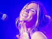 IN THE MOMENT: Joss Stone belts out another number during her set at Byron Bay Bluesfest.