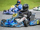 Denis Butler during the Two Track Challenge at the Gladstone Kart Club on Sunday.