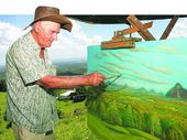 ARTIST Charlie Ragazzi, known for painting hinterland scenery from beside his van, has died aged 91.