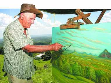 FOND MEMORIES: Artist Charlie Ragazzi has died leaving a legacy of wonderful paintings featuring hinterland scenery.