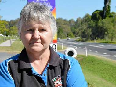 FED UP: Tyndale Roadhouse owner Bev Traynor is sick of seeing near-misses and deaths on the Pacific Hwy and fears having to find someone killed outside her business. PHOTO: GEORJA RYAN