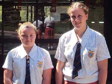 ROAD TO SUCCESS: West Moreton Anglican College Year 12 students, Mikala Neal and Ashleigh Russell.