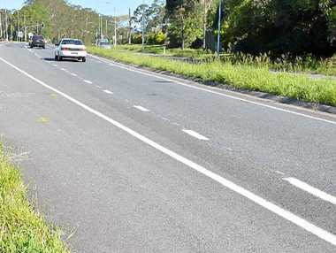 DISASTER STRIKES: The scene where a police officer was hit by a motorcycle on Steve Irwin Way at Beerwah.