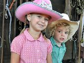McKinley (5) and Billy (3) Keogh have been practising for the Cowboys' event hosted by their father Scott Keogh.