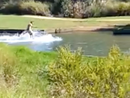 Wakeboarder takes sport to duck pond