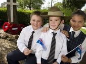 ON THEIR first day back for term two, Holy Name Primary School students were already thinking about Anzac Day.