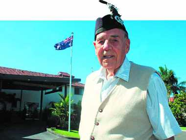 "STRIKE UP THE BAND: Drum major Henry ""Scottie"" Wilson will lead the Ballina Pipe Band on Anzac Day."