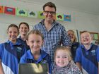 CHEERS of excitement could be heard outside the Builyan State School classroom on Tuesday as 10 iPads the school won as part of an Observer competition arrived.