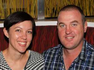 Dining at the City Golf Club are Kate and Andrew Stewart.