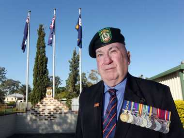 President of the Logan and District RSL Sub-Branch, Ken Heard. Photo Inga Williams / The Reporter