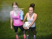 Chinchilla netballers Tia Taaffe and Katherine Davis are sick of becoming mosquito meals at netball training and school.