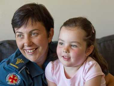 Paramedic Wendy Aitken with daughter Jorja Bierton-Aitken. Photo Nev Madsen / The Chronicle