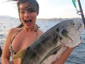 MARGOT Robbie was thrilled when she landed a huge catch during a fishing trip in Nicaragua.