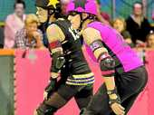 BACK: The Northern Rivers Roller Derby team returns to action in Lismore on Saturday night.