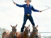 TOP TALENT: Guy McLean, alias the Horse Whisperer, will demonstrate his remarkable horse skills at The Caves Show on Sunday.