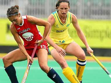 Madonna Blyth (right) has a big year ahead with the Hockeyroos.