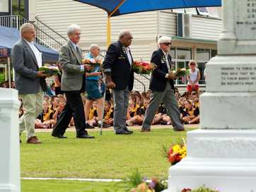 Granville State School held a special Anzac Day parade on Thursday.