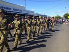 CROWDS of people, three and four deep in some places, lined the streets in Hervey Bay to pay their respects on Anzac Day.