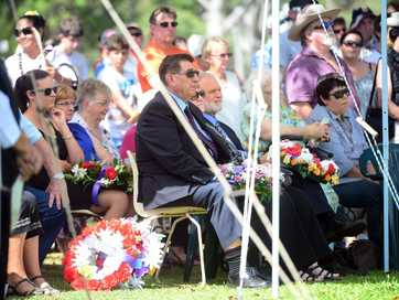 A selection of photos taken at the 2014 Anzac Day ceremony held at Moore Park Beach.