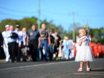 A selection of photos taken at the Burnett Heads Anzac Day ceremony.