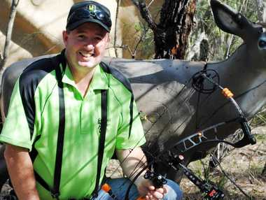 STRAIGHT SHOOTER: Emerald Archery Club coach and national 3D silver medallist David Brewer was with the team that scored 14 medals at the field archery nationals.