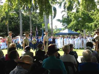 Anzac Day main parade in Mackay.