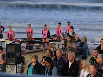 Surf Life Saving boat crews featured at a huge dawn service at Mooloolaba which attracted more than 3000 people to the beach.