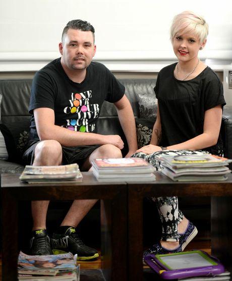 Peter Tickner and Erin Zackeresen at Studio Pedro. Photo Allan Reinikka / The Morning Bulletin