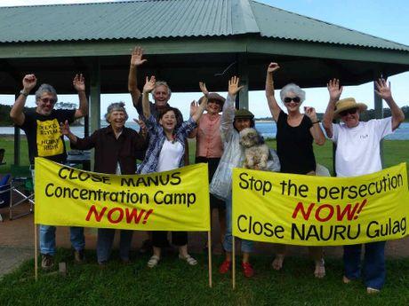 UNITED: Members of Bellingen Rural Australians For Refugees.