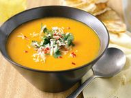 YUMMY pumpkin soup, perfect for winter.