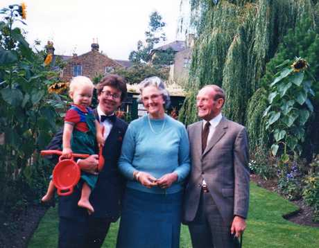 Sir Richard and Lady Harrison with Nick and his dad