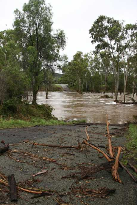 The Callide Creek crossing at Biloela.