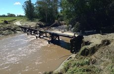 Deck removed from Foggs Road Bridge, Harlin - User Contributed